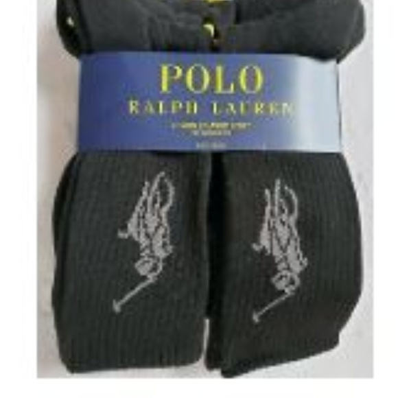 $40 POLO RALPH LAUREN Men/'s 3-Pair Pack BLUE ARGYLE Crew Dress Socks SHOE 6-12